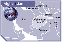 Map of Afghanistan, courtesy of FCO
