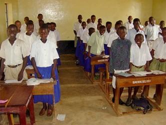 A Tanzanian classroom - click for bigger picture