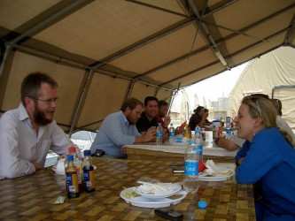 Dining out in Lashkar Gah: lunch in the galley
