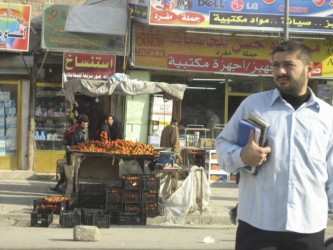 The bustle of street life in downtown Basra