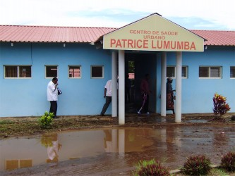 Patrice Lumumba health centre, after the rain