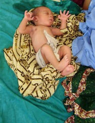 A new arrival at the Chibuto Maternity Unit - click for bigger picture