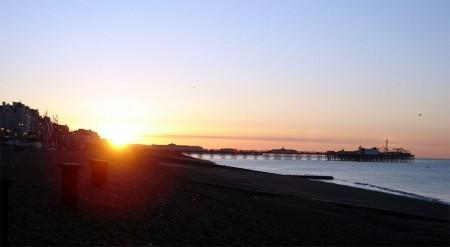 Sunrise over Brighton pier