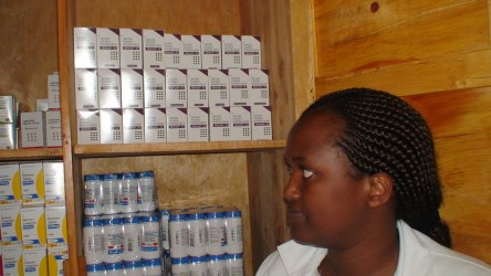 Antiretroviral drugs in the project pharmacy