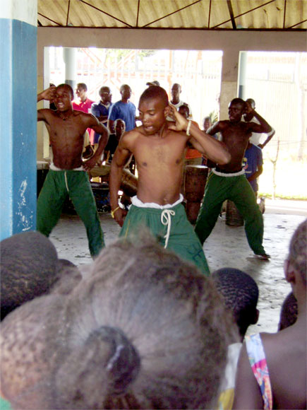 High energy dancing - Mozambique style.