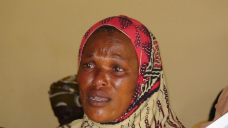 Jamila weeps as she tells her story