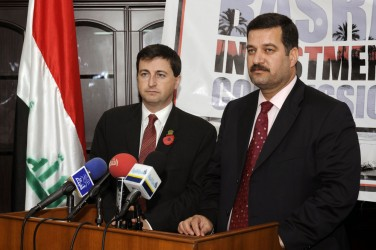 Secretary of State Douglas Alexander attends the launch of the Basra Investment Commission