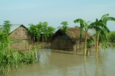 The reality of climate change: floods in Bangladesh (Credit: DFID)
