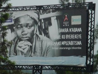 An AIDS poster in Kigali city