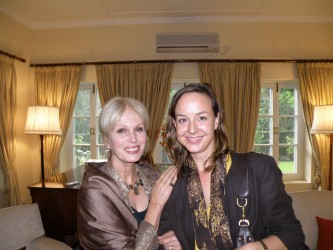 Me with Joanna Lumley at the British Embassy