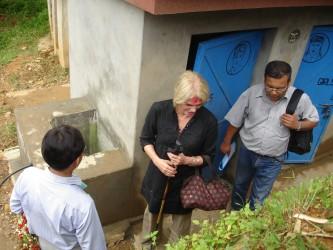 School latrine for girls and boys