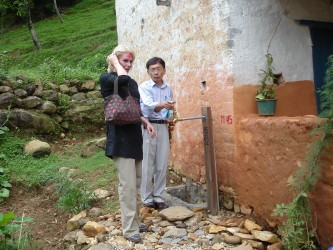 Water tap for households in Chaura village