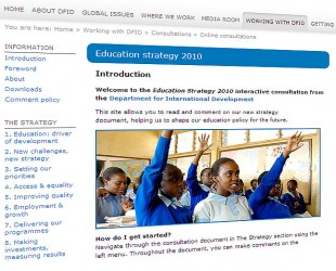 DFID's education strategy - click to have your say