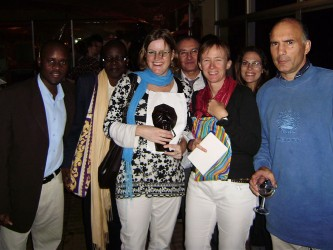 Esther with civil society workers