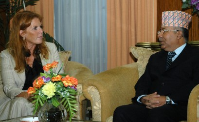 Duchess of Yorj meets Prime Minister Madhav Kumar Nepal (Photo credit: DFID)