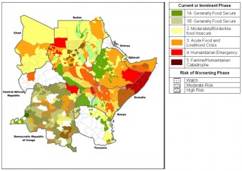 Food security in Central and Eastern Africa (Credit: IPC) - click for bigger picture