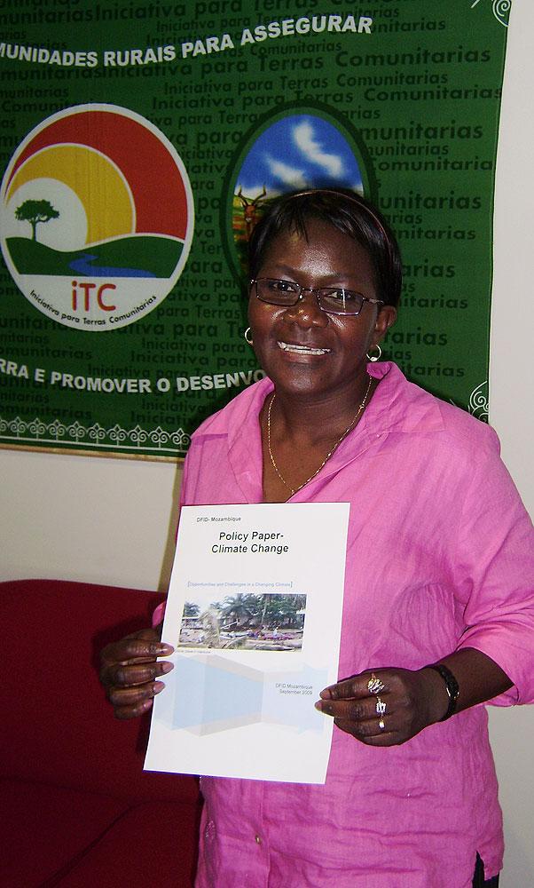 Rita Zacarias, DFID Mozambique Climate Change Adviser