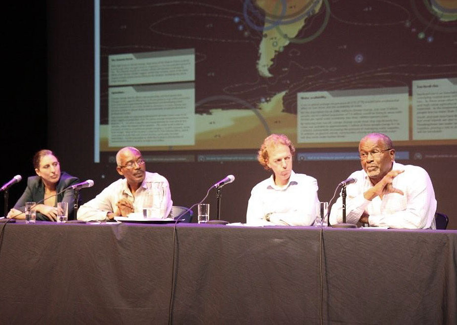 The panel at the event