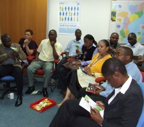 DFID, British Council and British High Commission staff are briefed on HIV, and offered counselling and testing