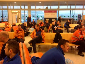 The UK search and rescue teams about to board the humanitarian flight out of London Gatwick