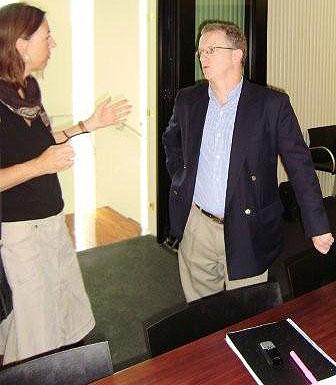 David Powell and Franziska at GFATM debrief