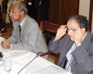 Minister Garrido and Dr Benzerroug El Hadi at the CCS meeting