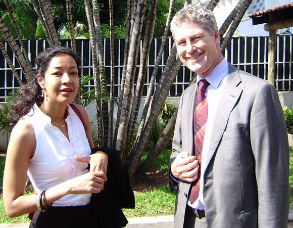 Photo of Marco Gerritsen and Amal Medani