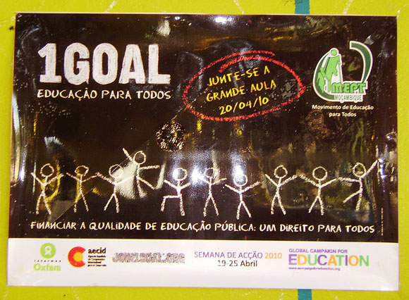 Photo of a 1GOAL poster