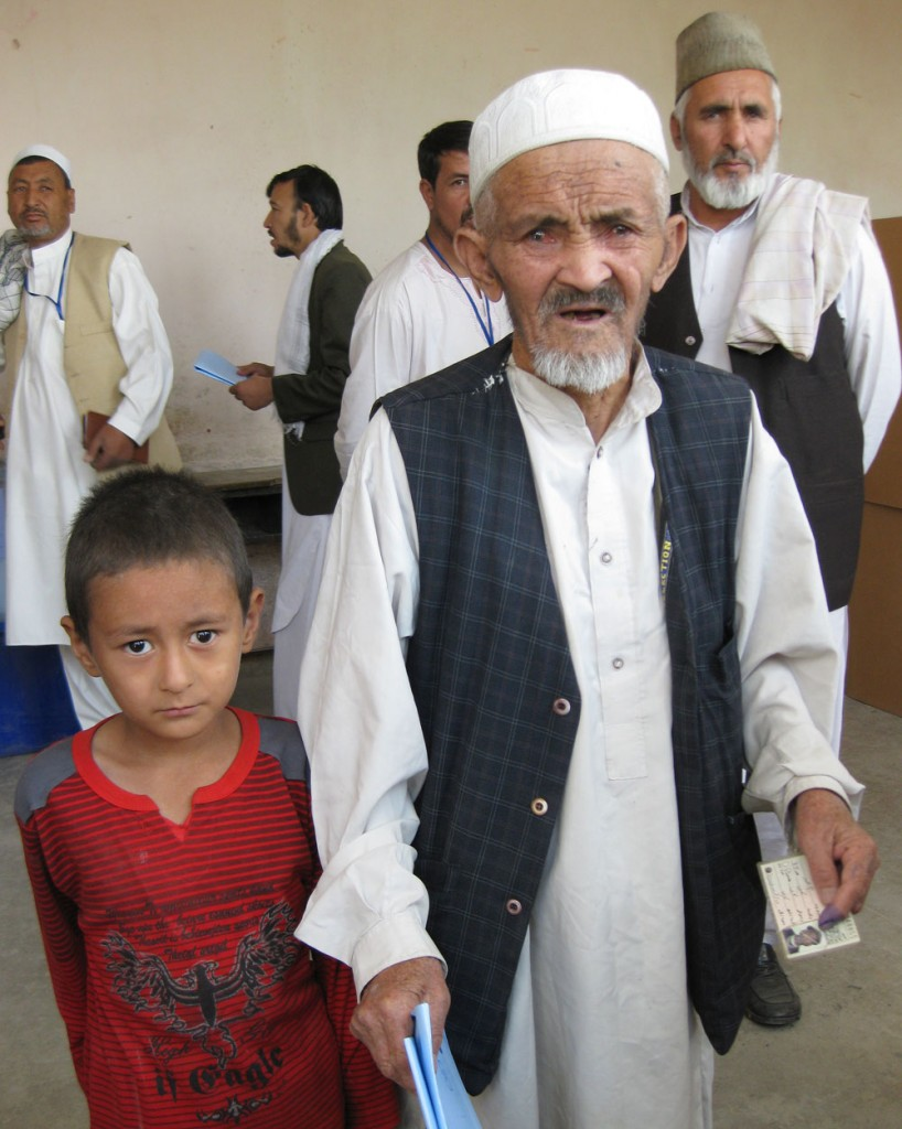 Photo of a Afghan man and boy