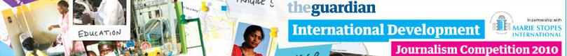 Photo of guardian development journalism competition logo