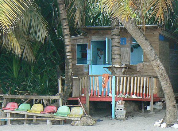 Photo of a beach hut