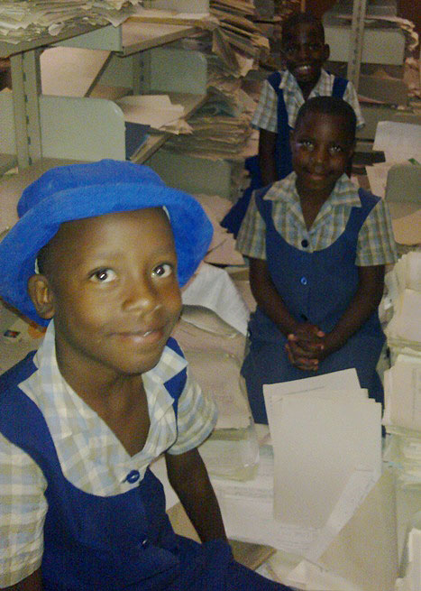 Photo: school girls in Zimbabwe