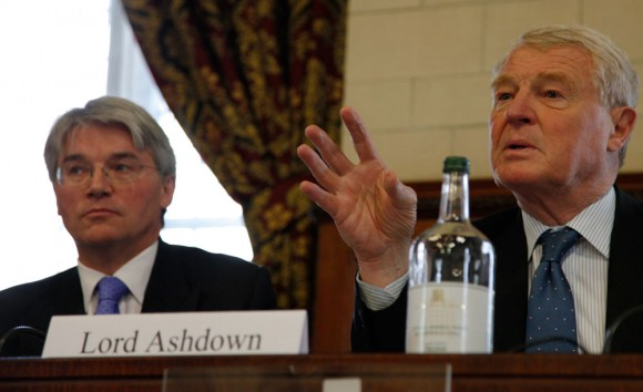 Photo of Lord Ashdown and Secretary of State Andrew Mitchell