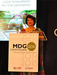 Challenges: Dr Sudha Sharma on the work still to do. Picture: USAID