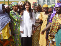Natalie with fistula patients outside Babbar Ruga Hospital, Nigeria. Picture: Campaign to End Fistula
