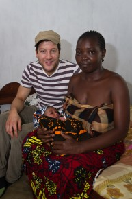 Holding the baby: meeting two-day-old Abdullah and his mum, Marium. Picture: Jonathan Banks/Comic Relief