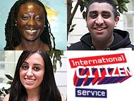 ICS volunteers Esi, Mohammed and Ceri