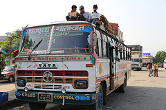 A bus in Nepal