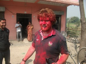 Covered in tikka powder