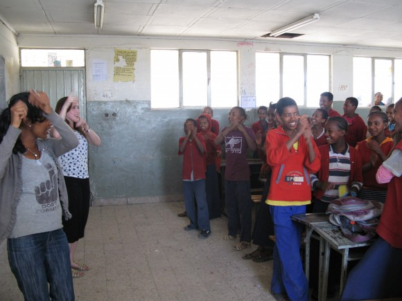 Singing with the class