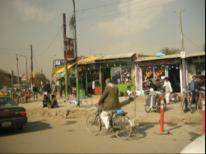 The busy streets in central Kabul