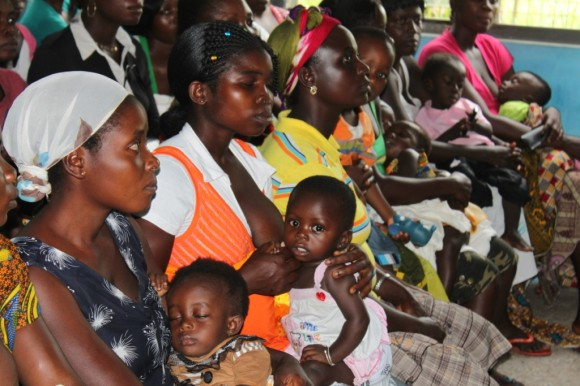 Family Planning: mothers and babies waiting for their turn with the nurses