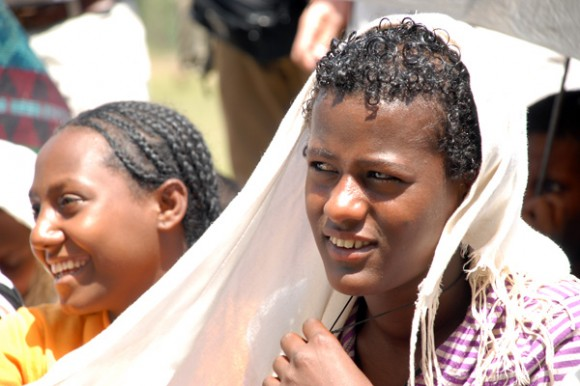 Picture of girls taking part in the Berhane Hewan project in the Amhara region of Ethiopia. Picture: Ashenafi Tibebe/The Elders