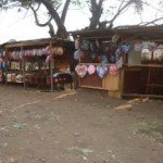 A picture of one of the stalls selling coffins. Picture: Neil Squires/DFID