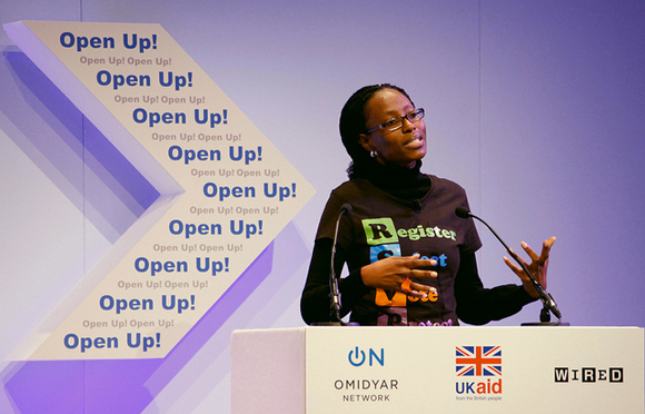 Is your organisation ready to open up and become more transparent in 2013? Picture: Yemi Adamolekun speaking about 'Enough is Enough Nigeria' at Upen Up! Russell Watkins/DFID