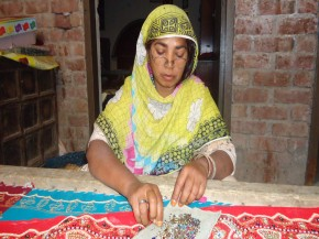 Kosar, an embroiderer from Pakistan. Picture: © CARE
