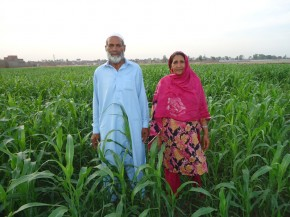 Safiya & her husband, Khuda. Farmers from Pakistan. Picture: © CARE