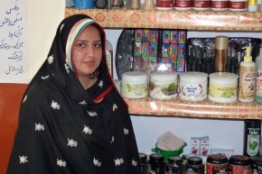 Ayesha Mehreen, 22, who received training to become a beautician. Picture: Punjab Skill Development Fund