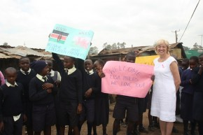AMAF pupils showing their love of Lisa. Picture: