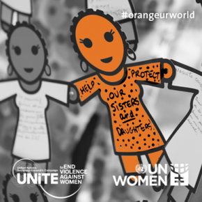 UN Women call for girls and women to be protected. Picture: UN Women.